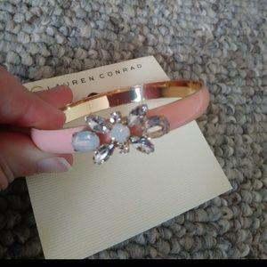 Pink gem bracelet